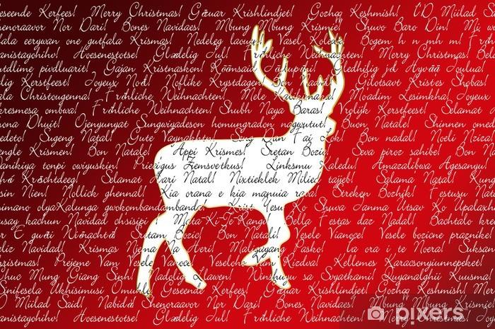 Frohe Weihnachten In Allen Sprachen.Wall Mural Vinyl Frohe Weihnachten In Allen Sprachen Der Welt