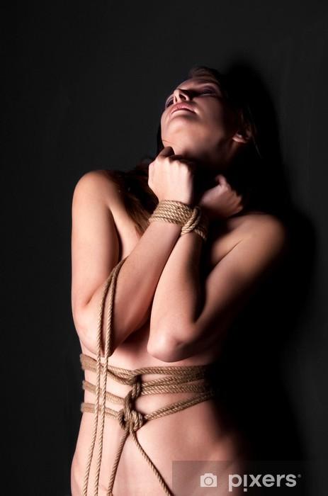 Fototapeta winylowa Bondage kobiety na czarnym tle - Tematy