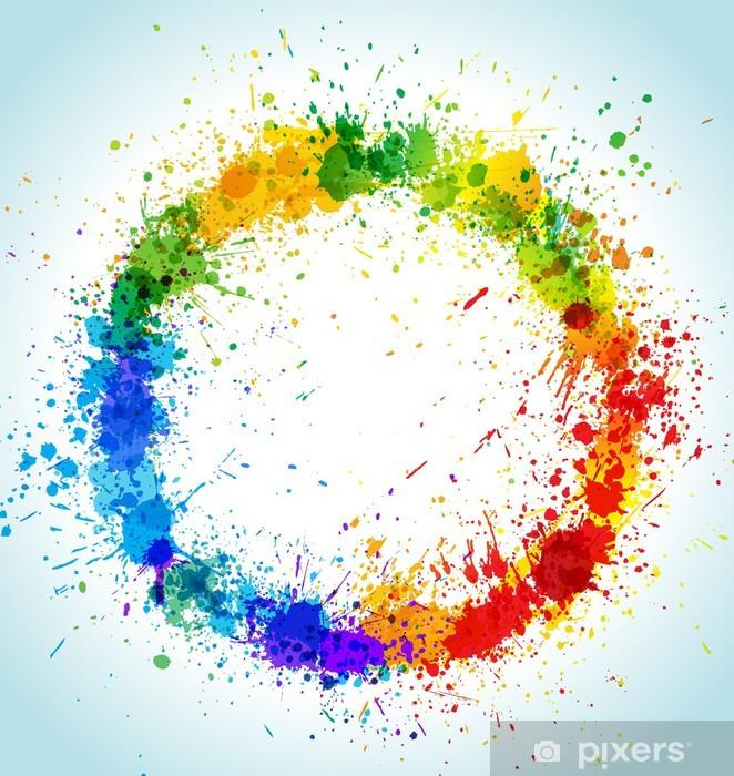 7a4ad59830fb14 Naklejka Okragle Plamy Koloru Farby Tla Pixers Zyjemy By Zmieniac