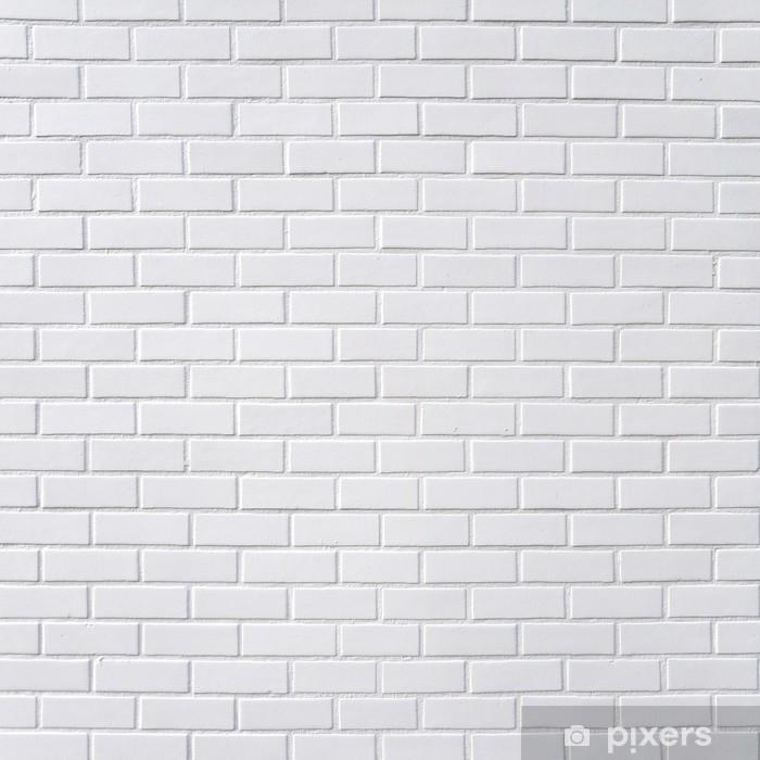 Sticker Pixerstick Mur brique blanc - Thèmes