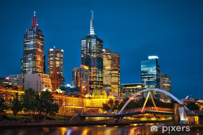 Papier peint vinyle Melbourne City et la rivière Yarra de Southbank - Thèmes