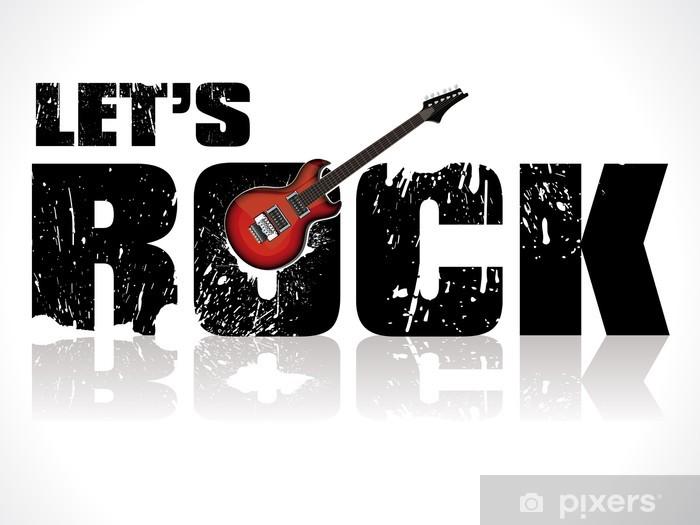Naklejka Pixerstick Pozwala rock tle z gitarą - Rock