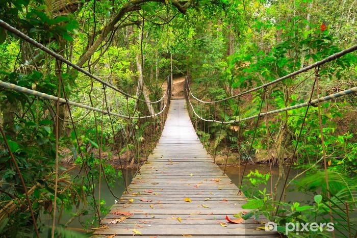 Zelfklevend Fotobehang Brug naar de jungle, Khao Yai National Park, Thailand - Stijlen