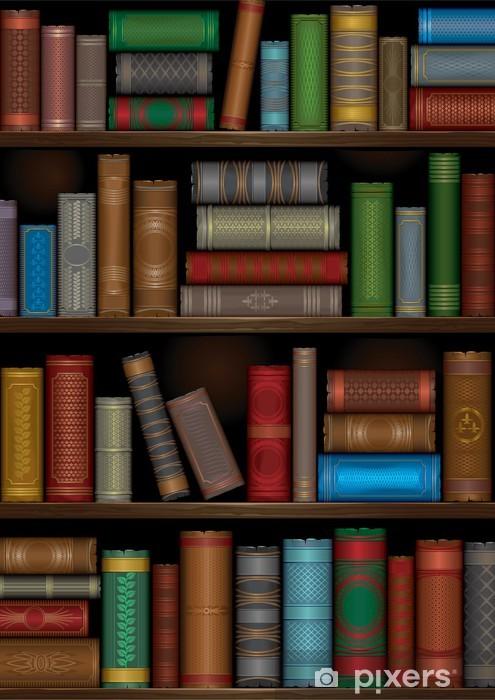 Papier peint vinyle Un étagères de la bibliothèque avec des livres anciens - Bibliothèque