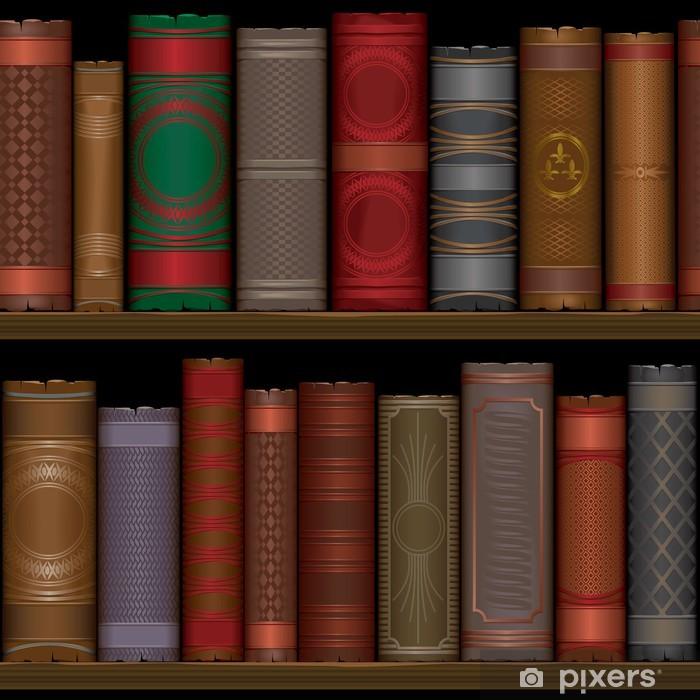 Papier peint vinyle Un modèle avec des étagères et des livres anciens - Bibliothèque