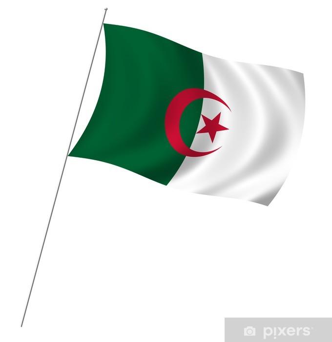 Papier peint vinyle Drapeau de l'Algérie - Afrique