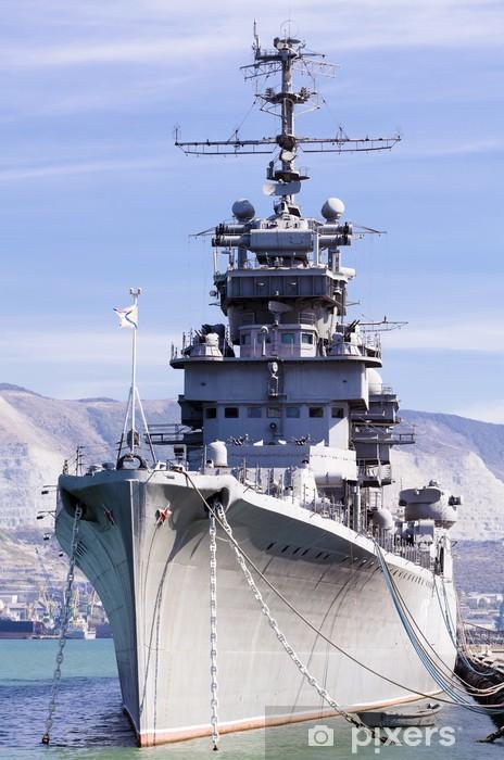 Fototapeta winylowa Okręt zawinął do portu Noworosyjsk, w Rosji - Tematy
