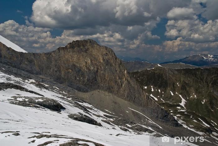 Papier peint vinyle Vue depuis le glacier d'Hintertux - Nature et régions sauvages