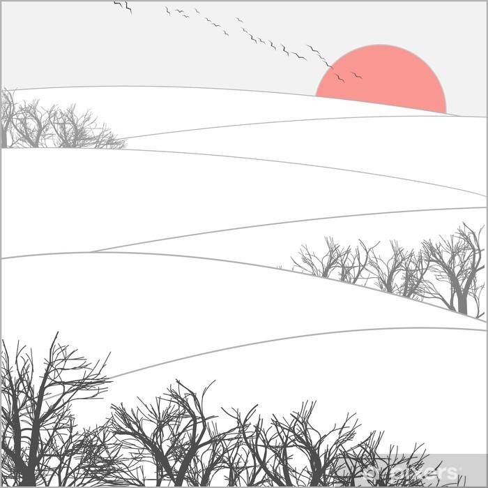 Fotomural Estándar Puesta de sol de invierno - iStaging 2