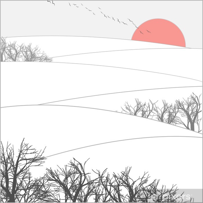 Poster Winter zonsondergang. - iStaging 2