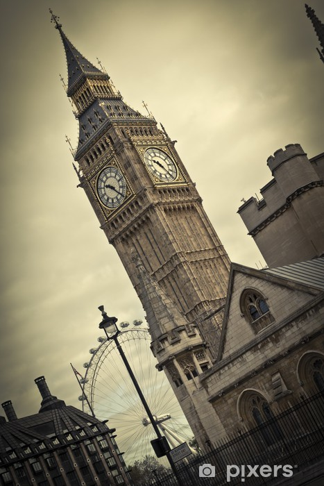 Naklejka Pixerstick Big Ben, London - Tematy