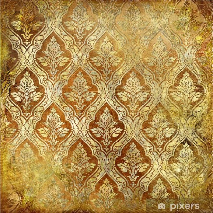 Naklejka Pixerstick Złote tło z wzorami - Tematy