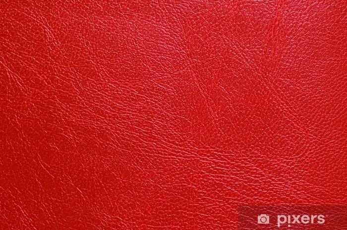 Papier peint vinyle Rouge simili cuir texture - Textures