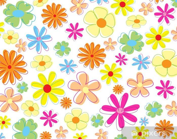 Nálepka Pixerstick Barevné květy - Květiny