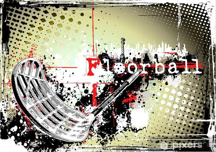 Sticker Pixerstick Horizontale affiche de floorball sale -