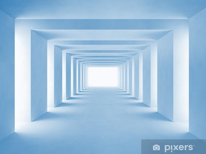 Fototapeta winylowa Niebieski tunel - Tematy