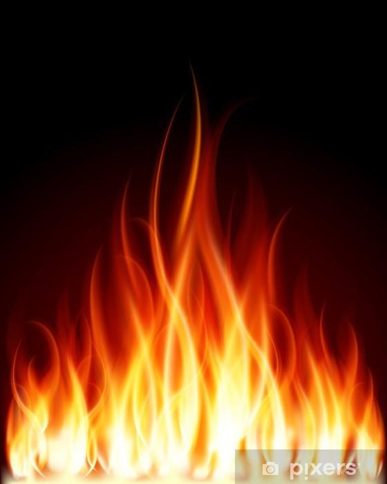 Vinilo Pixerstick Quemar llama fuego fondo vector -