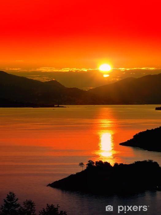 Sunset Pixerstick Sticker - Water