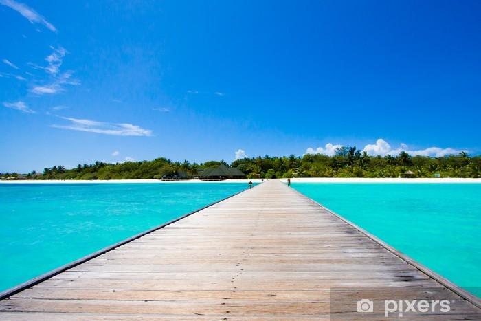 Vinylová fototapeta Maledivy pláž scéna - Vinylová fototapeta