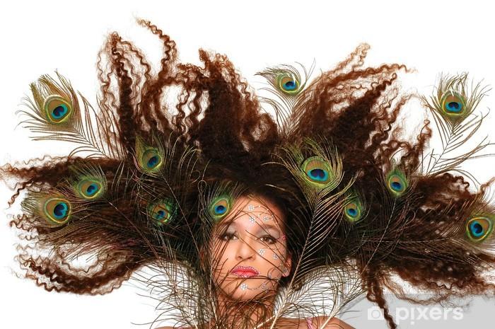 Naklejka Pixerstick Szalony paw włosów - Moda