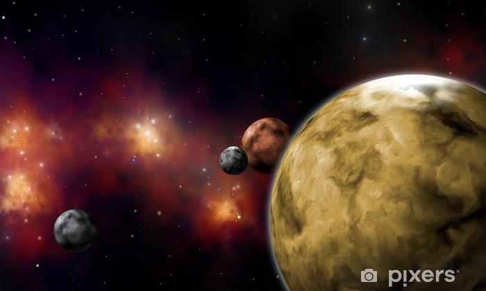 Vinyl Fotobehang Planetaire systemen extrasolares - Ruimte