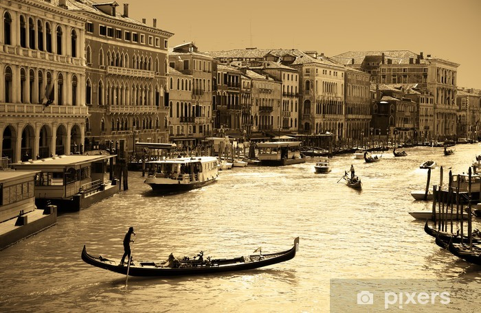 Papier peint vinyle Venise en sépia - Thèmes