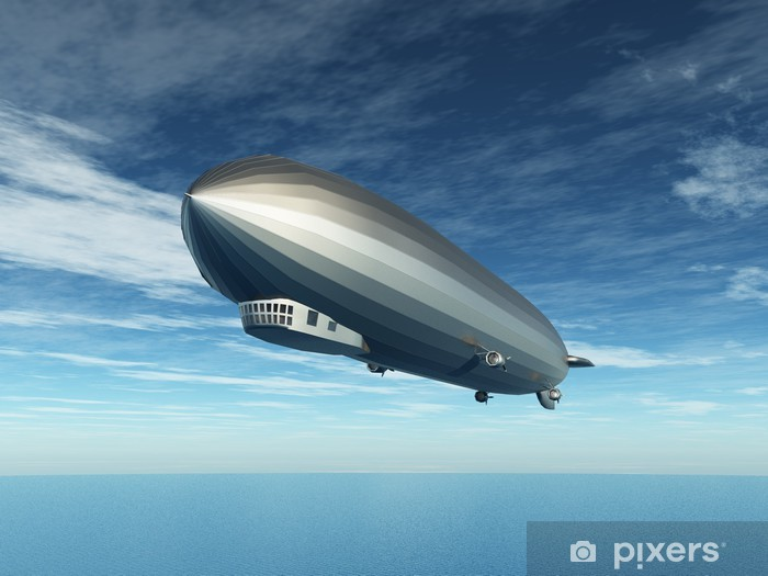 Naklejka Pixerstick Zeppelin - Transport powietrzny