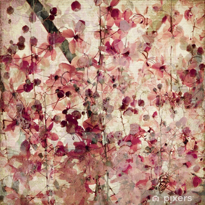 Fototapeta winylowa Różowy kwiat w tle grunge -