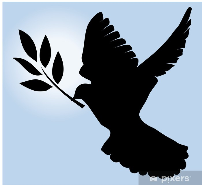 Dove Silhouette With Olive Branch Sticker Pixers We Live To Change This file was created by akira and is distributed under the creative commons. https pixers co nz stickers dove silhouette with olive branch 28763266
