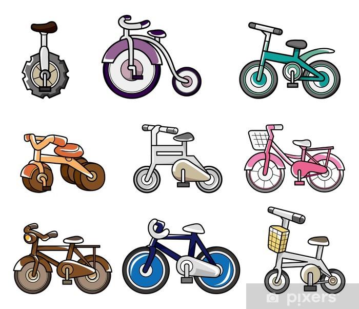 Vinilo Dibujos Animados Bicicleta Pixerstick