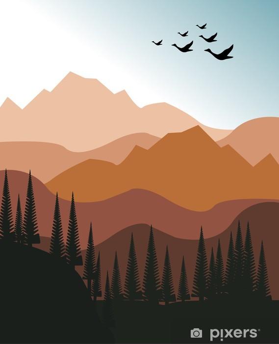 Fototapeta winylowa Górski krajobraz - Góry