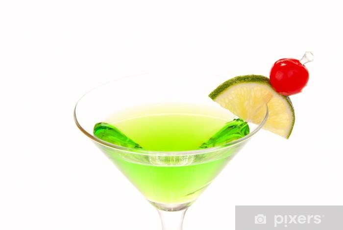 marca popular precio oficial fecha de lanzamiento: Vinilo Coctel verde de martini de manzana con cal y cereza Pixerstick