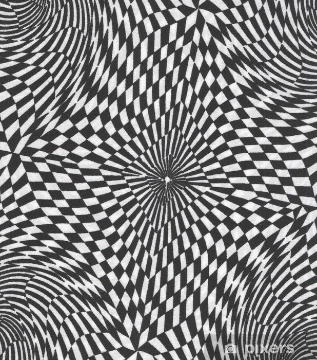 Naklejka Pixerstick Op-art w tle - Sztuka i twórczość