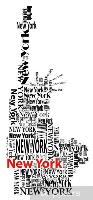 Fototapeta winylowa Streszczenie statua wolności słowa z Nowego Jorku - Naklejki na ścianę