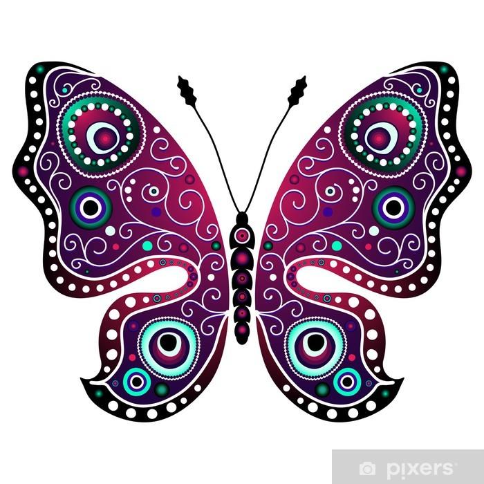 Plakát Jasný abstraktní motýl - Značky a symboly
