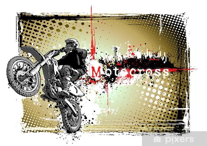 Naklejka Pixerstick Rama motocross - Transport drogowy