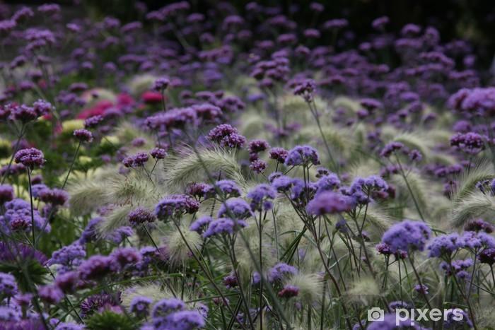 Sticker Pixerstick Lila Blumenfeld - Fleurs
