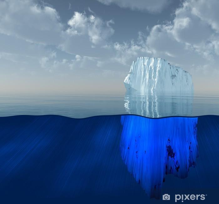 Fototapeta winylowa High Resolution Iceberg Ilustracja 3D - Tematy