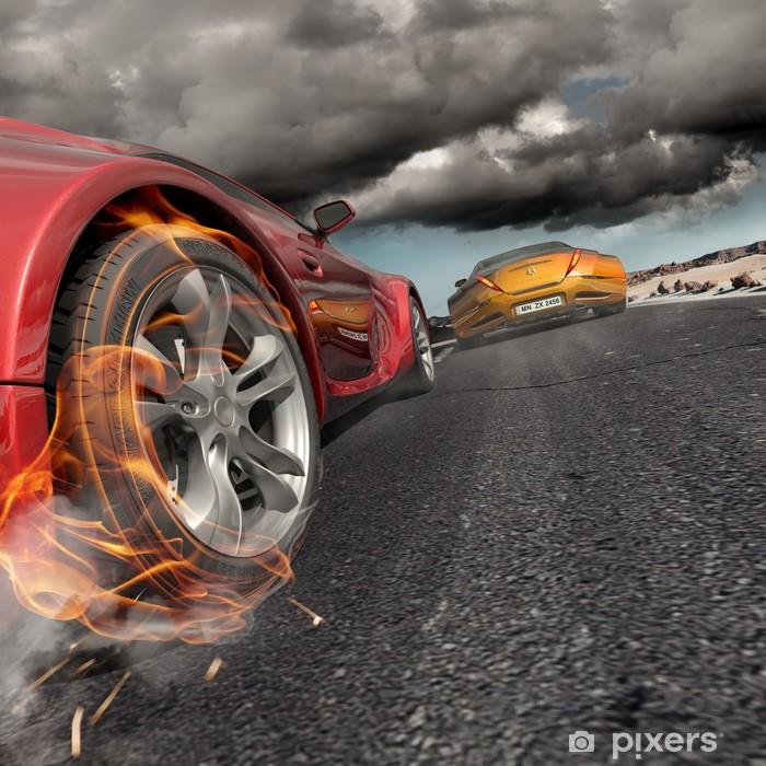 Naklejka Pixerstick Race. Niemarkowych samochód koncepcyjny. - Przeznaczenia