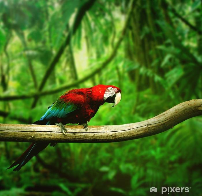 Sticker Pixerstick Perroquet dans la jungle - Thèmes