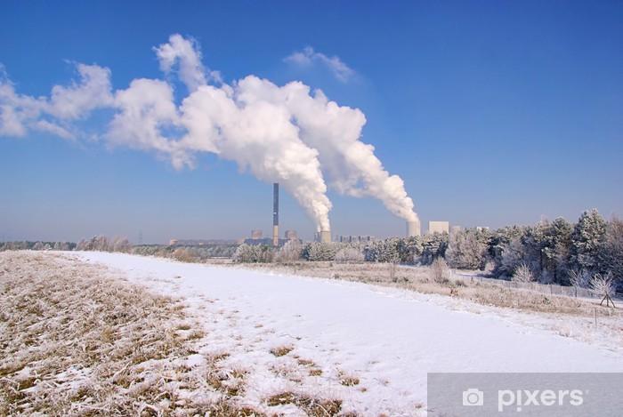 Naklejka Pixerstick Boxberg Kraftwerk im Winter - Elektrownia Boxberg w zimie 05 - Infrastruktura