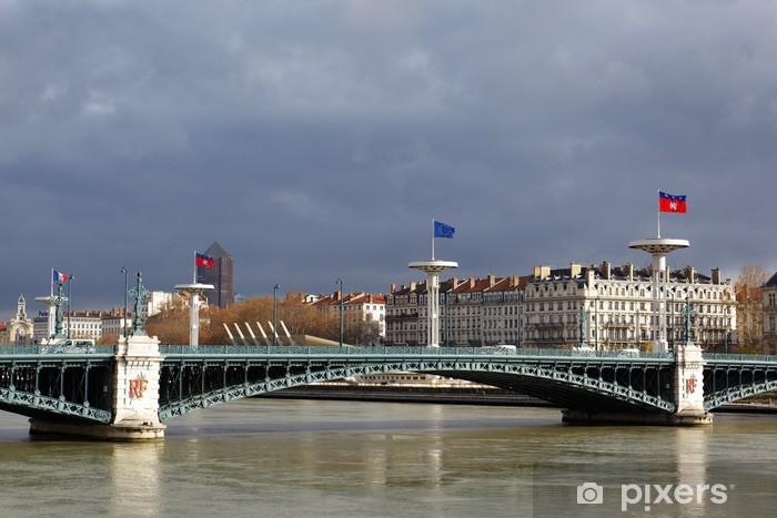 Vinylová fototapeta Univerzita Bridge v Lyonu - Vinylová fototapeta