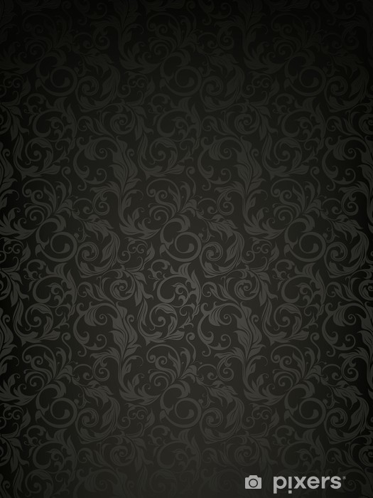 Sticker Pixerstick Fond d'écran Black Pattern - Thèmes