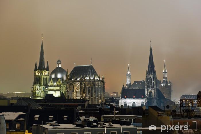 Vinyl-Fototapete Aachen - Stadt