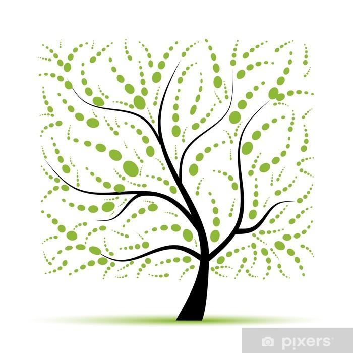 Naklejka Pixerstick Drzewo sztuki piękne projekt - Pory roku