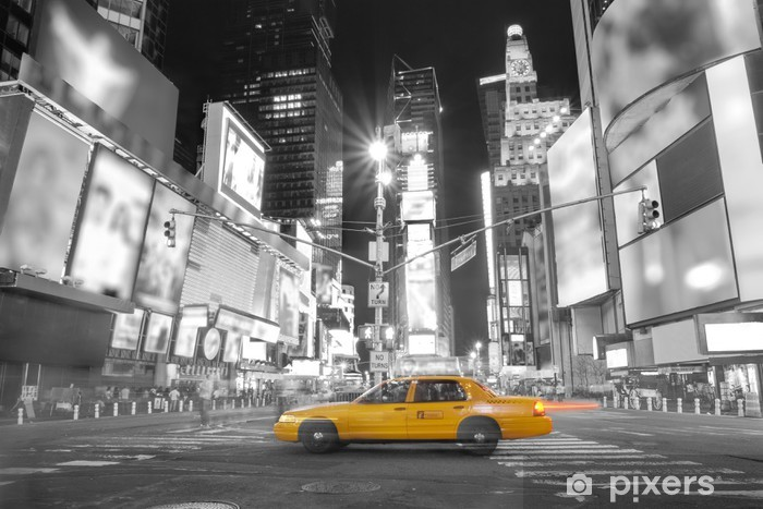 Taxi in New York Self-Adhesive Wall Mural - Themes