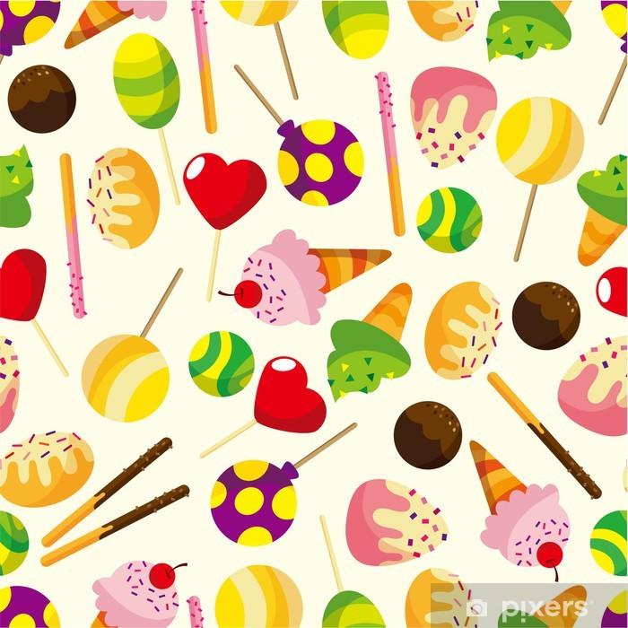 Sticker Bonbons De Dessin Animé Pixerstick
