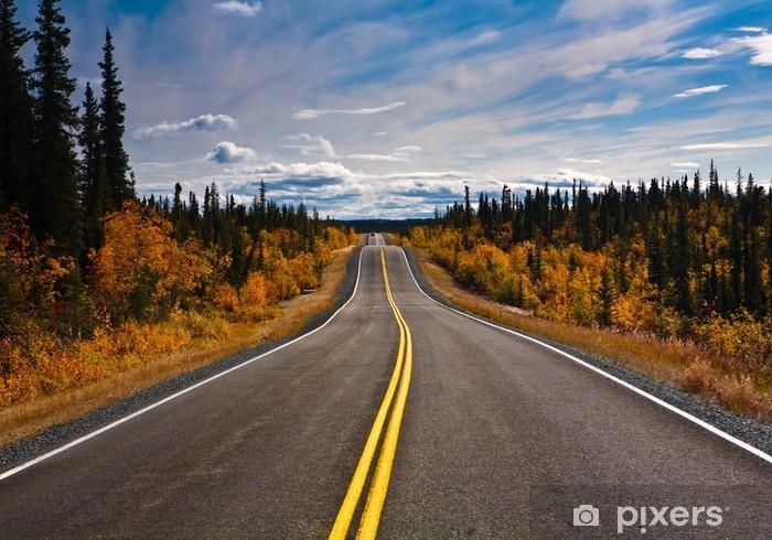Alaska Yukon Highway endlose Weite Pixerstick Sticker - Themes