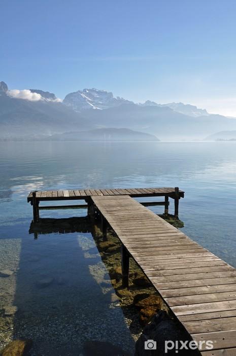 Sticker Pixerstick Ponton sur le Lac d'Annecy - Lacs