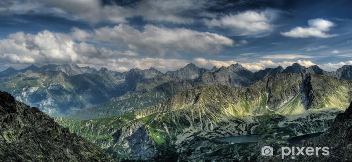 Vinyl-Fototapete Panorama der Berge. Adler-Pfad. - Themen